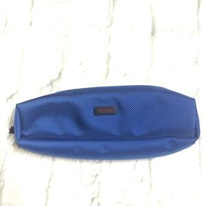 Tunic long travel pouch case in blue